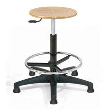 Height Adjustable Utility Stool with Glider