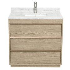Naya 36 Single Ash Gray Bathroom Vanity Set by Wyndham Collection