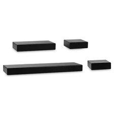 Chunky Ledge 4 Piece Floating Shelf Set by Melannco