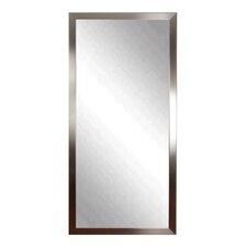 Embossed Steel Leaning Wall Mirror