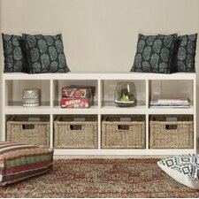 Alban 22 Standard Bookcase with Baskets by Beachcrest Home