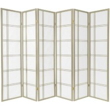 "70"" x 84"" Boyer 6 Panel Room Divider"