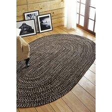 Chenille Reverible Tweed Braided Dove/Chesnut Indoor/Outdoor Area Rug