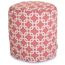 Coral Links Pouf Ottoman by Majestic Home Goods