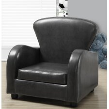 Look Juvenile Kids Faux leather Club Chair by Monarch Specialties Inc.