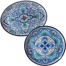 Talavera 2 Piece Heavy Weight Melamine Platter Set