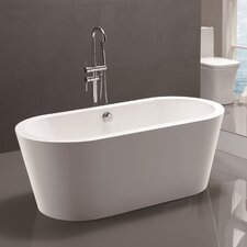 "59"" x 24"" Freestanding Soaking Bathtub"