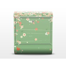 Spring Background Letterbox with Newspaper Holder