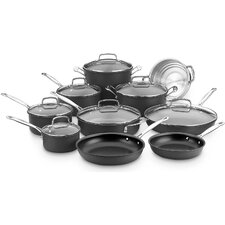 17 Piece Chefs Classic Hard Anodized Non-Stick Cookware Set