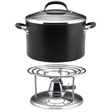 Premier Professional Stockpot with Lid and Free Table Burner