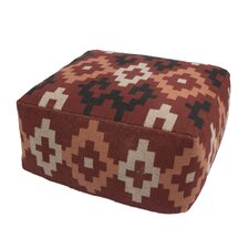 Bourgoin Cotton and Polyester Pouf Ottoman by Loon Peak