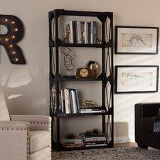Baxton Studio Hudson 71 H Four Shelf  Shelving Unit by Wholesale Interiors