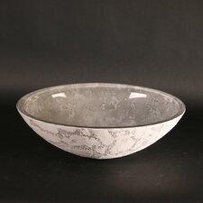 Atelier Luna Dual Textured Oval Vessel Bathroom Sink by Maestro Bath