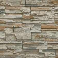 "Natural Elements 33' x 20.5"" Flat Stone Wallpaper"
