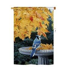 Autumn Bath 2-Sided Vertical Flag