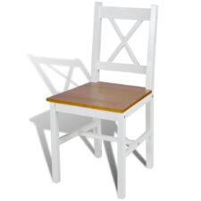 6-tlg. Esszimmerstuhl-Set aus Massivholz