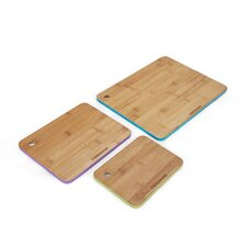 3 Piece Bamboo Cutting Board with Painted Edge Set