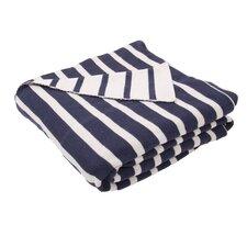 Sebastian Handloom Striped Cotton Throw Blanket
