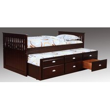 Twin Captain Bed with Trundle and Underbed Storage by Bernards