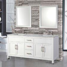Denault 72 Double Sink Bathroom Vanity Set with Double Mirrors by Brayden Studio
