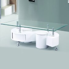 Infinity Premier Tempered Glass Coffee Table by Fab Glass and Mirror
