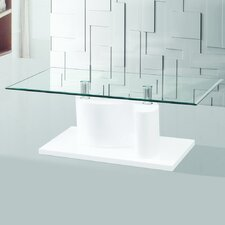 The Infinity Tempered Glass Coffee Table by Fab Glass and Mirror