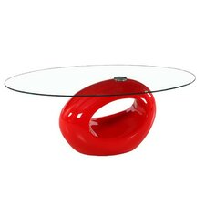Oval Glass Coffee Table by Fab Glass and Mirror