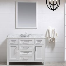 Tahoe 48 Single Bathroom Vanity Set with Mirror in White by Ove Decors