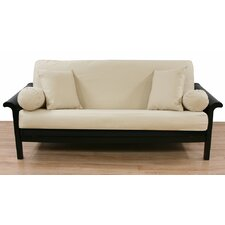 Almond Brushed Twill Futon Slipcover  by Easy Fit