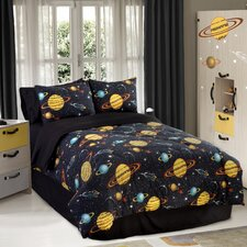 Glow in The Dark Rocket Star Comforter Set