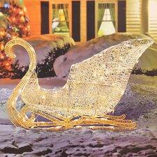Elegant Glittering Lighted Sleigh Christmas Decoration