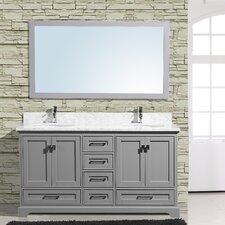 Cambridge 60 Double Bathroom Vanity with Mirror by Adornus