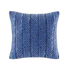 Shibori Embroidery Cotton Throw Pillow