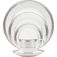 Odessa Gold Bone China 5 Piece Place Setting, Service for 1