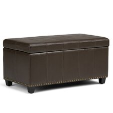 Amelia Leather Storage Entryway Bench by Simpli Home