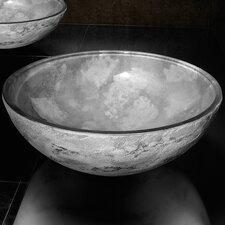 Atelier Luna Dual Textured Circular Vessel Bathroom Sink by Maestro Bath