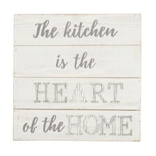 Kitchen Is the Heart of the Home Wood Wall Décor