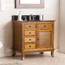 "Thompson 33.5"" Single Bathroom Vanity Set with Granite Top"