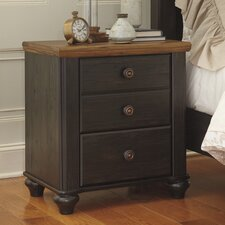 Artemesia 3 Drawer Nightstand by August Grove