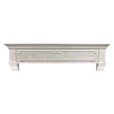 Thomas Drop Front Storage Fireplace Mantel Shelf