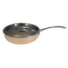 """9.5"""" Tri-ply Frying Pan with Lid"""