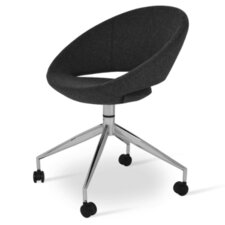 Crescent Spider Swivel Upholstered Dining Chair