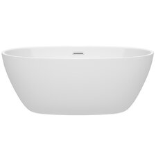 Juno 59 x 32 Freestanding Soaking Bathtub by Wyndham Collection