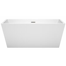 Sara 59 x 31.5 Freestanding Soaking Bathtub by Wyndham Collection