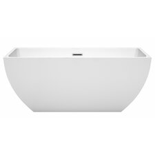 Rachel 59 x 29.5 Freestanding Soaking Bathtub by Wyndham Collection