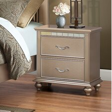 Simmons Casegoods Magnifique 2 Drawer Nightstand by House of Hampton