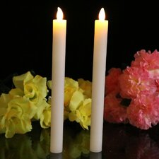 Wax Tapered Flameless Candle (Set of 2)