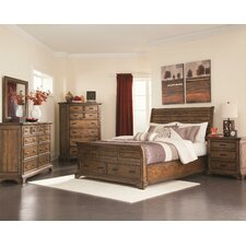 Monticello 6 Piece King Sleigh Bedroom Set Pecan American