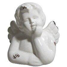Ceramic Cherub Figurine