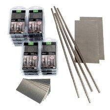 """Short Grain 3"""" x 6"""" Metal Peel & Stick Subway Tile Kit in Brushed Stainless"""
